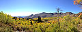 2014-10-04 14 05 45 Panorama of Subalpine Firs, Aspens during autumn leaf coloration, ponds and the Copper Mountains from Charleston-Jarbidge Road (Elko County Route 748) in Copper Basin about 11.2 miles north of Charleston, Nevada.JPG