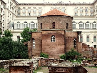 Dated from the early 4th century, the Church of Saint George is the oldest standing edifice in Sofia 20140618 Sofia 09.jpg