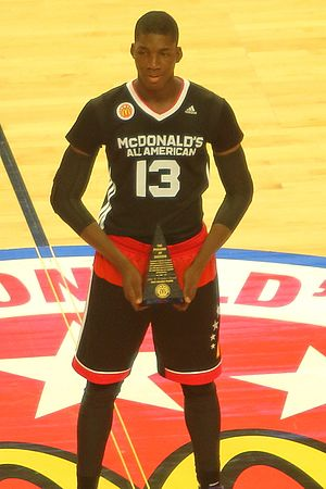 Cheick Diallo - Diallo being honored as MVP of the 2015 McDonald's All-American Boys Game