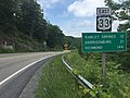 2016-06-26 14 01 04 View east along U.S. Route 33 (Rawley Pike) descending the east side of Shenandoah Mountain in northwestern Rockingham County, Virginia.jpg