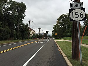 New Jersey Route 156 - View north along Route 156 at Church Street
