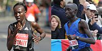Mary Keitany and Daniel Wanjiru