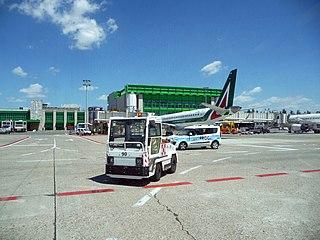 international airport serving Milan, Italy