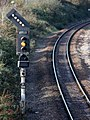 2017 at Weston-super-Mare station - signal B384.JPG