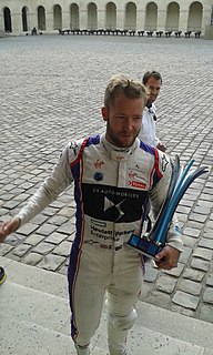 Sam Bird racing driver for Virgin Racing in Formula E and AF Corse in the World Endurance Championship