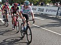 2018 Tour of Britain stage 1 071 Geraint Thomas, 098 Miles Scotson and 192 Jens Keukeleire.JPG