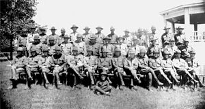 206th Field Artillery Regiment - Officers of the 206th C.A. U.S.N.G. Camp McRae, Little Rock, 1920s