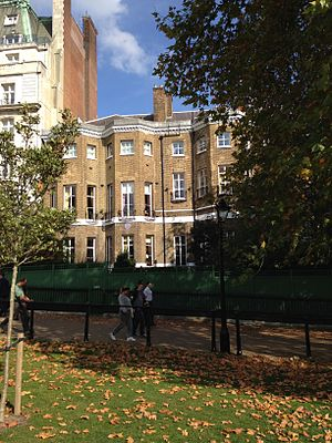 Wimbourne House - Wimbourne House from Green Park