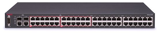 Avaya ERS 2550T-PWR, a 50-port Ethernet switch 2550T-PWR-Front.jpg
