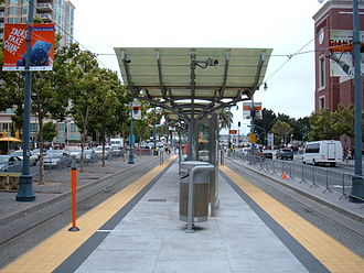 2nd and King station - Image: 2nd & King Muni Metro stop looking north