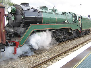 3830 preserved New South Wales C38 class locomotive
