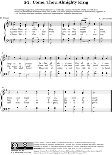 Come Thou Almighty King - Wikipedia