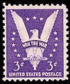 3 cent win the war stamp, 1942, USA.jpg