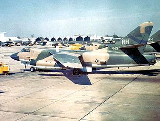 Combat Skyspot - Image: 42d Tactical Electronic Warfare Squadron Douglas EB 66E Destroyer