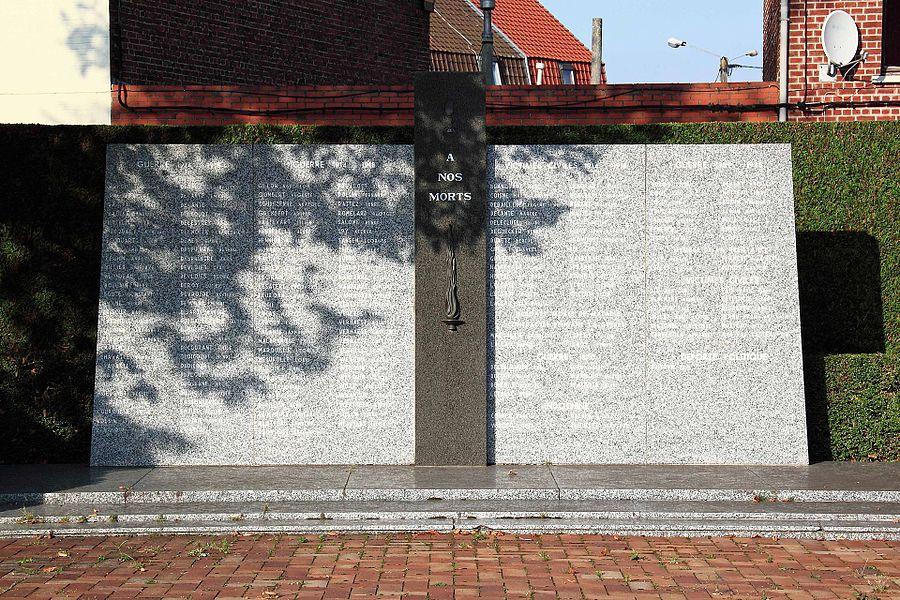 Monument aux Morts - Place du Général de Gaulle, 59 Erquinghem-Lys
