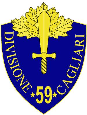 59th Infantry Division Cagliari - 59th Infantry Division Cagliari Insignia