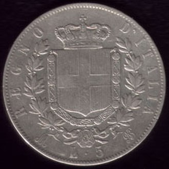 Latin Monetary Union - Victor Emmanuel II of Italy