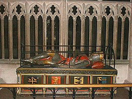 Monument van Robert Curthose in de kathedraal van Gloucester