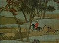 9b Zhao Mengfu. Horse Herding in Autumn Countryside 1312 23,6х59см, Section. Palace Museum, Beijing1.jpg
