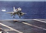 A-4C Skyhawk of VA-192 landing on USS Bon Homme Richard (CVA-31) c1965.jpg