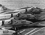 A-4E Skyhawks of VA-45 on USS Intrepid (CVS-11) c1973.jpg