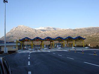 A1 (Croatia) - Ravča toll plaza
