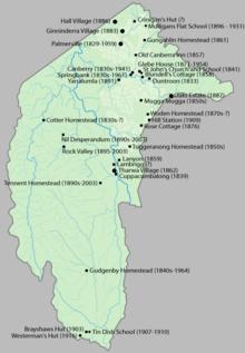 Localizações do mapa concentradas no nordeste e leste, oeste e sul amplamente desertas, exceto no extremo sul