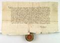 AGAD Wladyslaw Jagiello, krol polski, zapisuje Zawiszy Czarnemu z Garbowa sume na Borunicach.png
