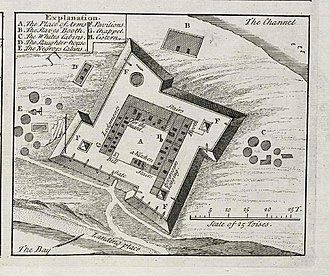 The Portuguese Empire was the first European power to colonize Senegal, beginning with the arrival of Dinis Dias in 1444 at Goree Island and ending in 1888, when the Portuguese gave Ziguinchor to the French. AMH-8133-KB Floor plan of the fort on Goeree.jpg