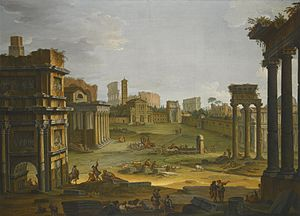 Antonio Joli - Image: ANTONIO JOLI ROME, A VIEW OF THE FORUM