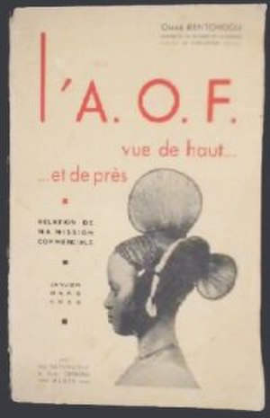 French West Africa - Afrique occidentale française Commercial Relations Report, showing the profile of a Fula woman. January–March 1938.