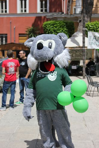"American University of Rome - The American University of Rome's mascot ""Wolfie"""