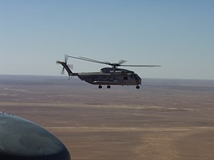 VMM-363 - A CH-53D from HMH-363 flying in Iraq.