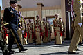 A Jordanian Armed Forces Honor Guard stands in formation for a pass in review ceremony for Chairman of the Joint Chiefs U.S. Army Gen. Martin E. Dempsey, left, in Amman, Jordan, Aug. 14, 2013 130814-D-VO565-014.jpg