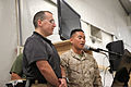 A U.S. Marine and a civilian employee, both members of the Praise Band, sing at the Faith in Combat Leadership Breakfast Aug. 28, 2012, at Camp Leatherneck, Afghanistan 120828-M-GN937-499.jpg