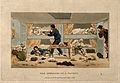 A cabin on board a packet-boat, its occupants either asleep Wellcome V0011178.jpg