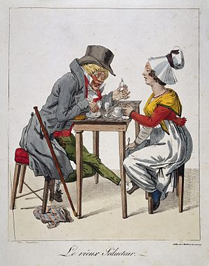 Hypnotic - Image: A corrupt old man tries to seduce a woman by urging Wellcome L0034228