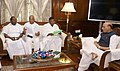 A delegation led by the Chief Minister of Puducherry, Shri V. Narayanasamy meeting the Union Home Minister, Shri Rajnath Singh, in New Delhi on October 27, 2017.jpg