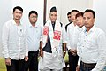 A delegation of Assam Gorkha Student Union led by Shri Prem Tamang calling on the Union Home Minister, Shri Rajnath Singh in New Delhi on May 03, 2015.jpg
