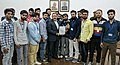 A delegation of students from Jammu and Kashmir presenting the memorandum to the Minister of State for Development of North Eastern Region (IC), Prime Minister's Office, Personnel, Public Grievances & Pensions.jpg
