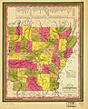 A new map of Arkansas with its canals, roads & distances. LOC gm72003746.jpg