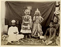 A photo from the 1890's, apparently of child actors performing in a Krishna-lila.jpg