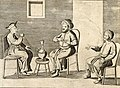 A smoking Armenian a Mughal and a Malabar native, detail from Carta Hydrographica y Chorographica de las Yslas Filipinas (1734).jpg