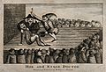 A theatrical performance of a tooth-drawer extracting a toot Wellcome V0016201.jpg