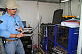 A view inside the noble gas laboratory with Noble gas expert, Derek Haas. -IFE14 (15658640519).jpg