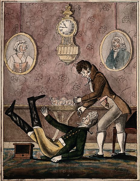 File:A wealthy patient falling over because of having a tooth ext Wellcome V0012058.jpg