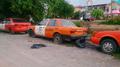 Abandoned Nissan Sentra sedan (B12) & Nissan Sunny (B14) Traffic police car in Bangkok Thailand.png