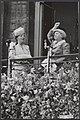Abdicatie koningin Wilhelmina. Bordescene Paleis op de Dam. Koningin Juliana en , Bestanddeelnr 014-0945.jpg