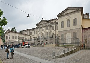 Accademia Carrara di Belle Arti di Bergamo - The front view of the Accademia Carrara.