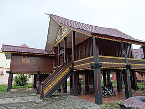 Alas people - Alas traditional house in Aceh Tenggara Regency.
